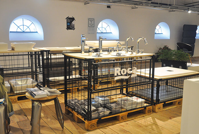 roca in the prestigious lodz design festival poland an event aimed at architects and designers group showroom in prague showcasing roca