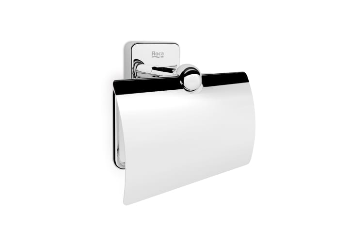 Toilet Roll Holder With Cover Can Be Installed S Or Adhesive Holders Accessories Products Roca